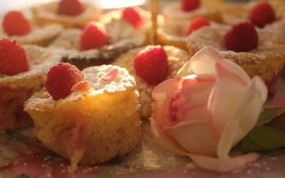 Muffins légers framboises et citron