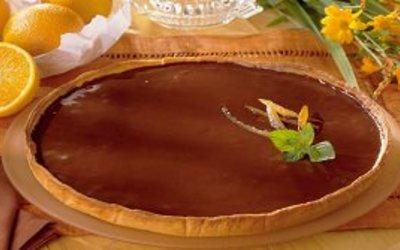 tarte chocolat et orange