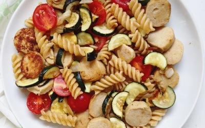 Salade de pâtes à la saucisse
