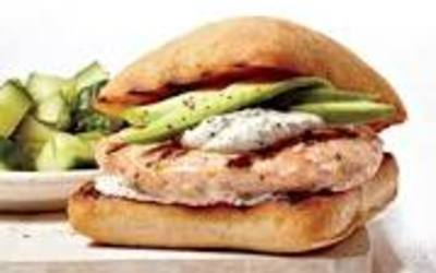 Fish burger au saumon ( fait maison)