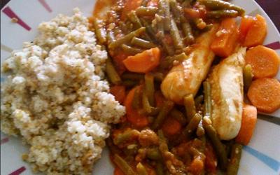 Quenelles nature cuisinées aux légumes