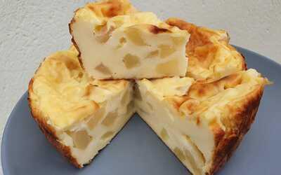 Flan de yaourt aux poires