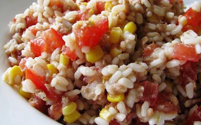 Salade de riz en solo