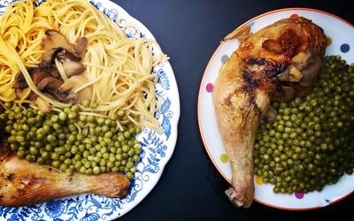 Cuisse de poulet aux champignons