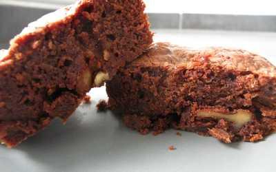 Brownies au chocolat au lait et noix