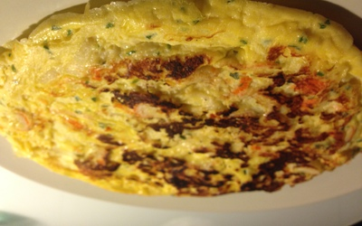 Omelette au surimi et fromage