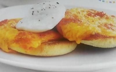 Tartines gratinées et œuf poché