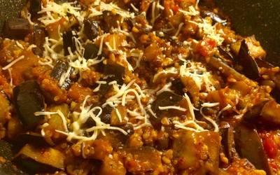 Aubergines et Quinoa à la sauce tomate