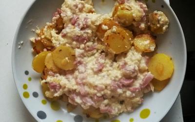 Pommes de terre façon tartiflette