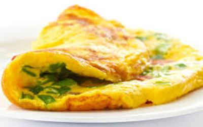 Omelette onctueuse à la ciboulette