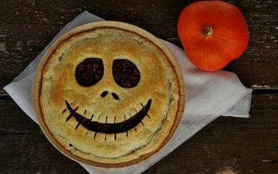 Quiche effrayante pour Halloween