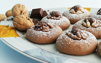 Biscuits croquants avec sa noix nappée