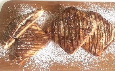 Chausson pain de mie chocolat /banane