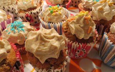 Cupcakes des poteaux des arts déco
