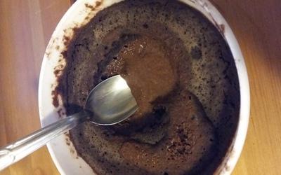 Mug cake fondant chocolat vegan