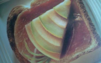 sandwich de parme au melon