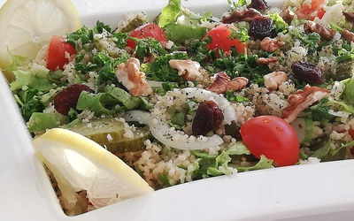 Salade couscous et légumes