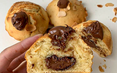 Muffin coeur coulant nutella