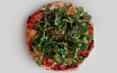Pizza 100% maison végétarienne
