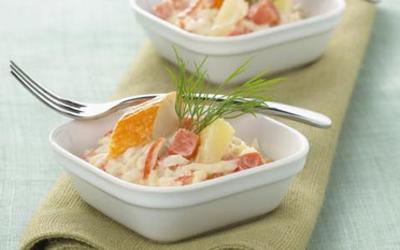 Salade de pâte au surimi