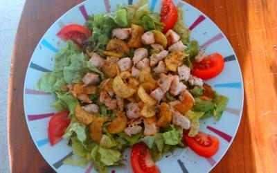 Salade poulet/courgette vite et bien