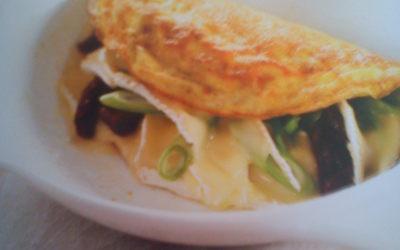 Brunch Omelette brie-tomates séchée