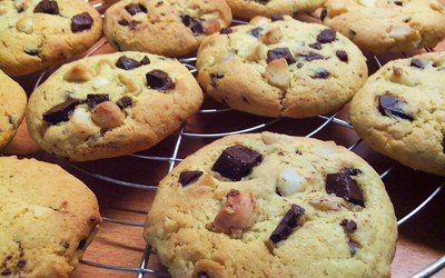 Cookies chocolat et noix de macadamia