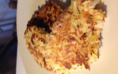 Galette de pommes de terre et thon