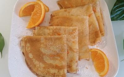 Crêpes sans lactose à l'orange