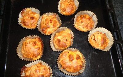 Muffins au chorizo& tomates séchées