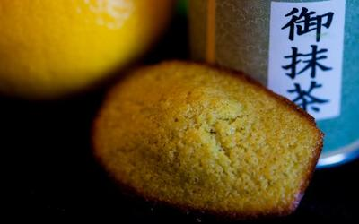 Madeleines au citron et thé vert matcha