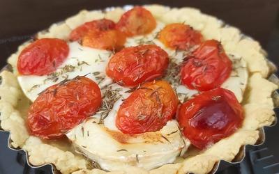 Tarte chèvre tomates cerises