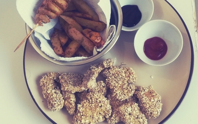 Nuggets de poulet aux flocons d'avoine