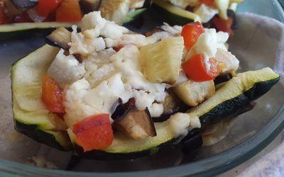 Courgettes farcies végétariennes :)