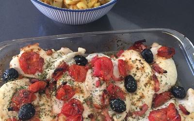 Blanc de poulet aux tomates cerise