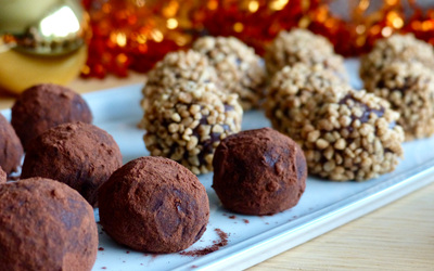 Truffes au chocolat de Cook'kin