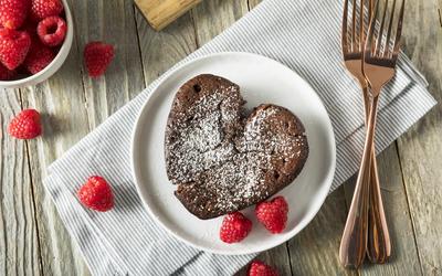 Moelleux au chocolat en coeur