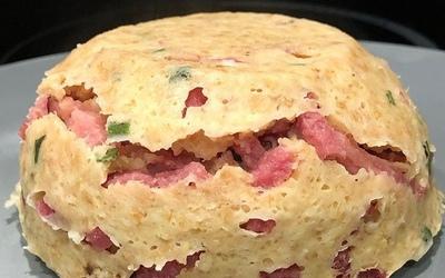 Bowlcake salé aux lardons de bacon