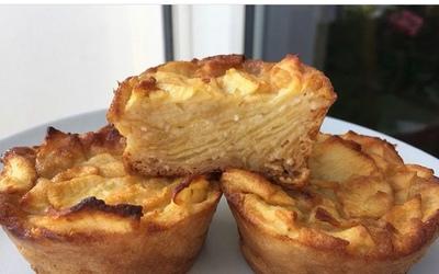 Minis gâteaux invisibles aux pommes