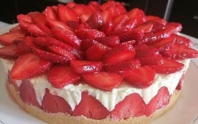Cheesecake sans cuisson façon fraisier