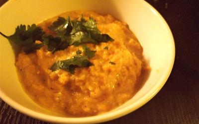 Purée de butternut curry lait de coco