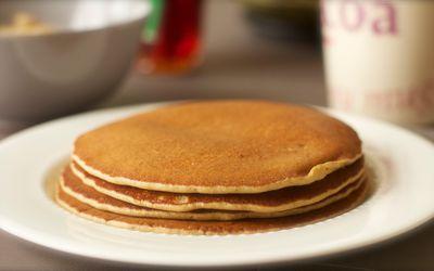 Pancakes au lait de soja et farine de chataigne