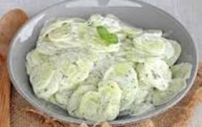 concombre à la crème ( recette polonaise)