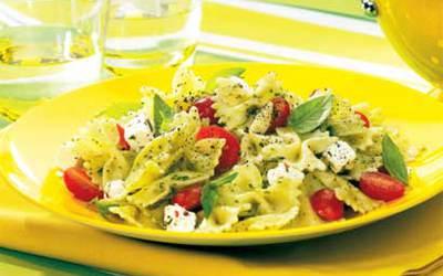 Salade de pâtes au pesto simplissime