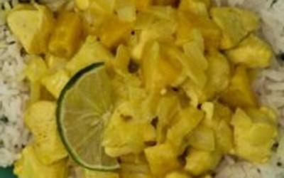 Curry de poulet pomme banane