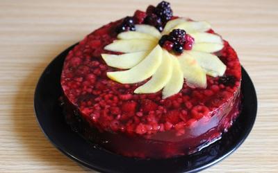gelée de fruits rouges et nectarine