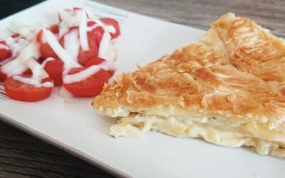 Tourte pommes de terres/oignons/fromage