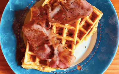 Gaufres salées (gruyère bacon)