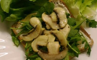 Toast aux champignons (vegan)