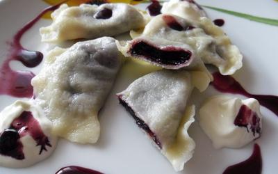 Pierogi aux myrtilles (dessert et goûter polonais)